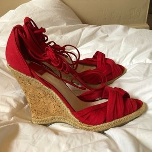 Dolce Vita lace up wedge espadrille sandal shoes
